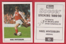 Arsenal Nigel Winterburn England 13